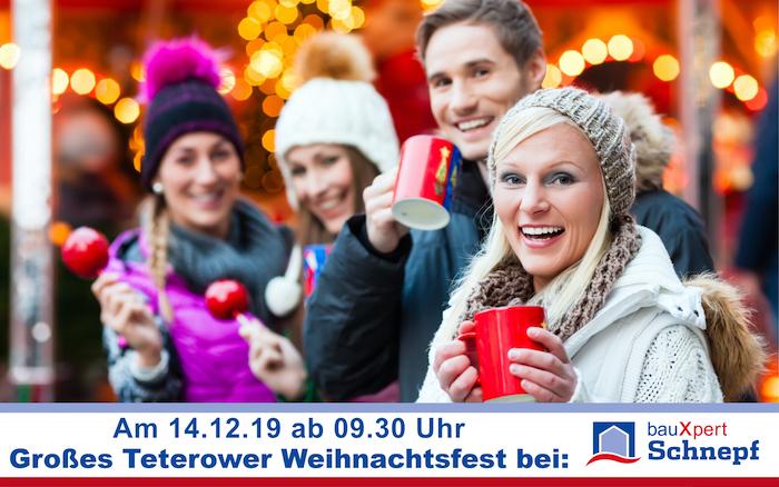 Weihnachtstage Bauxpert Schnepf Teterow 2019