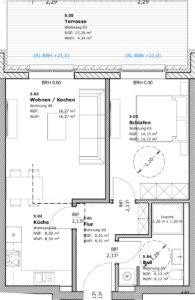 kleine 2-Raum- Wohnung in Teterow